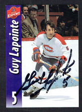 Guy Lapointe #5 signed autograph auto Molson Export Hockey Trading Card