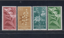 GUINEA (1959) NUEVO SIN FIJASELLOS MNH SPAIN - EDIFIL 391/94 FLORES