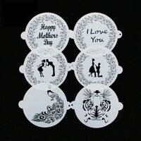 "1PC Cake Stencil Template Mold 8"" Birthday Wedding Flower Peacock Decoration"