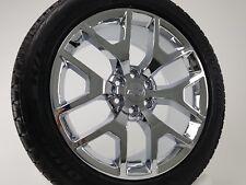 "22"" GMC Fits Chevy Chrome Wheels 1500 Sierra Y Spoke Rims Bridgestone Tires 5656"