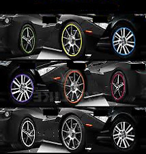 SILVER Alloy Wheel Protector Rim Trim Strips RIMBLADES FLEX fits PEUGEOT