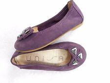 Unisa ballerines décorées de cabochons cuir daim violet P 24 TBE
