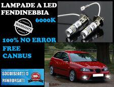 SEAT IBIZA 6L 2002-2008 LAMPADE FENDINEBBIA H3 LED CREE NO ERROR 6000K COPPIA