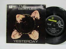 """THE BEATLES Yesterday OZ 7"""" EP Parlophone GEPO 70026"""