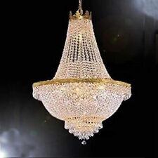 Luxury Crystal Ceiling Pendant Light Entryway Living Room Lighting Chandelier