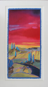 PEACEFUL LAND 2. SIGNED LIMITED EDITION SILKSCREEN PRINT BY BARBARA BRODY