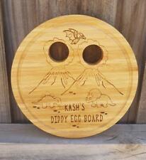 Dippy Egg Board Dinosaur Design Personalised Bamboo Board