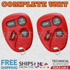 2 for 1998 1999 2000 2001 Chevrolet Blazer Keyless Entry Remote Car Key Fob Red