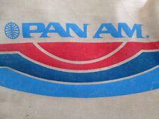 Pan Am Airlines Crew VTG Flight Attendant Pilot Stewardess Beige Canvas Tote/Bag