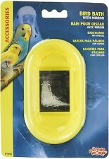 Hagen Bird Bath toy plastic bottom cage with mirror Small birds Living world