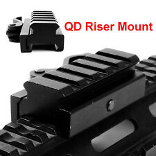 "QD Quick Release 3/5"" Riser Scope Mount 20mm Picatinny Weaver Rail Base"