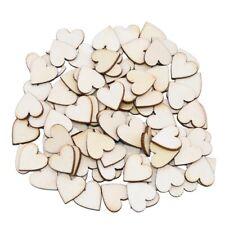 1 confezione di dischi a fette di legno cuore di legno amore vuoto incompiuto