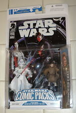 2008 Star Wars INFINITIES 4 Comic PACK 11 WHITE DARTH VADER PRINCESS LEIA Figure