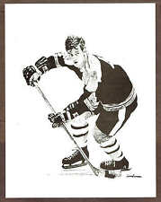1978 Landsman Print, Boston Bruins' Bobby Orr  8.5x11