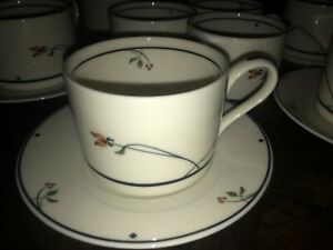 Lot Gorham Ariana Town & Country Cup & Saucer Fine China Set Of 6 + 3cups