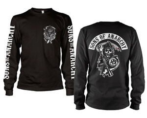 Official Licensed SOA Backpatch Long Sleeve T-Shirt S-XXL, 3XL (Black)