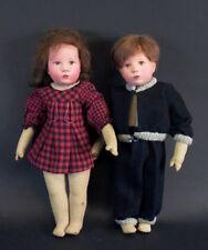 altes Käthe Kruse Puppenpaar - Mädchen & Junge