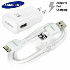Genuine Samsung Galaxy S5 Note3 US Wall Charger 3ft 3.0 USB Micro Charging Cable
