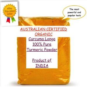 Turmeric Powder Australian CERTIFIED ORGANIC Spice Curcuma Longa Curcumin Food
