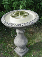 Classic Stone Sundial With Moat |Sun Brass Dial
