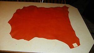 Orange Goat Leather Hide  23 x 29  (H3)
