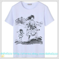Tee Unisex Anime Dororo White Men Cosplay Casual Short Sleeve T-Shirt Tops #X13
