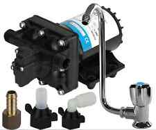 Caravan Water Pump and Tap - Suits Drifta Kitchens as well / Pump / Faucet Kit