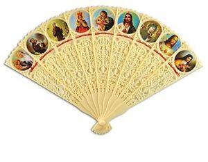 RELIGIOUS FOLDING FANS - One Fan