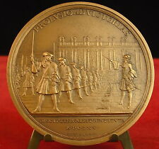 Medalla PROLUSIO AD VICTORIAS Versailles Disciplina milit por Bernard 铜牌