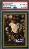 Bill Walsh PSA DNA Coa Autograph 1993 Enor HOF Hand Signed
