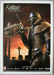 Fallout New Vegas RARE PS3 XBOX 360 42cm x 59cm Promotional Poster #2