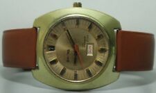 Vintage Enicar Sherpa Automatic Day Date Swiss Mens Wrist Watch s378 Old Used