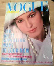 Vtg Vogue UK British 1984 Jeremy Irons Isabella Rossellini Helena Bonham-Carter