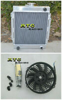 3 Row All aluminum Racing radiator +Fan Datsun 1200 manual MT