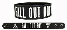 FALL OUT BOY Rubber Bracelet Wristband Save Rock and Roll White