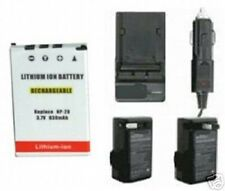 Battery + Charger for Casio EXS1 EXS100 EXS2 EX-S880 EXM20U EX-Z75BE EXZ75BE