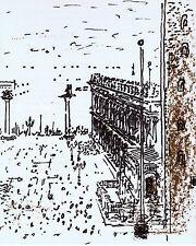 JOHN PIPER VENICE ENCADRÉ EN OAK LITHOGRAPHIE LA PIAZETTA 1965