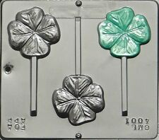 FS NEW St Pattys Day FOUR LEAF CLOVER Chocolate Candy Fondant Plaster Lolly Mold