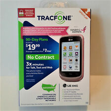 TracFone LG 306G Android Phone 3x Min 3G/Wi-Fi Comp - Susan G. Komen Pink - RARE