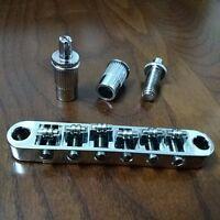 Chrome Roller Bridge Tune-o-Matic for Epiphone guitars w/ m8 threaded posts