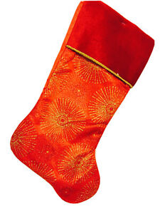 Fireworks Red Christmas Stocking