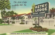 Holly Hill Fl Aztec Lodge Motel Roadside #r094
