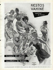 Publicité Advertising  KESTOS VAHINE tenue de plage maillot de bain