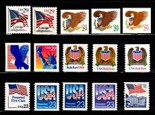 #2593-94, 2595-99, 2602-04, 2605 2606-08, 2609 Reugular Issues set/15 - MNH