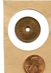 1888 Congo Free State/Belgian Congo 2 CENTIMES  NICE LOOKING  U GRADE    W 79
