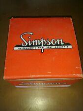 Simpson Panel Meter Model 1379 0-300 Watt 300 volt 4.0 Amps New Old Stock