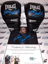 BAS RUTTEN PAIR MMA UFC SIGNED EVERLAST GLOVES & 8X10 PHOTO LOT-EXACT PROOF COA