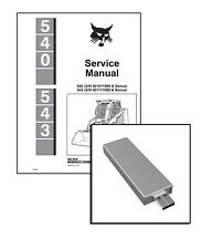 Bobcat 540, 543 Skid Steer Loaders Workshop Service Repair Manual on USB Stick