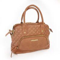 "STEVE MADDEN Quilted Large Tote Brown Shoulder Bag Purse 14.5""x10""x6.5"""