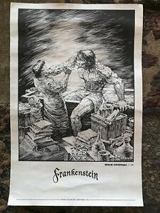 BERNIE WRIGHTSON FRANKENSTEIN SIDESHOW COLLECTIBLES EXCLUSLIVE ART PRINT